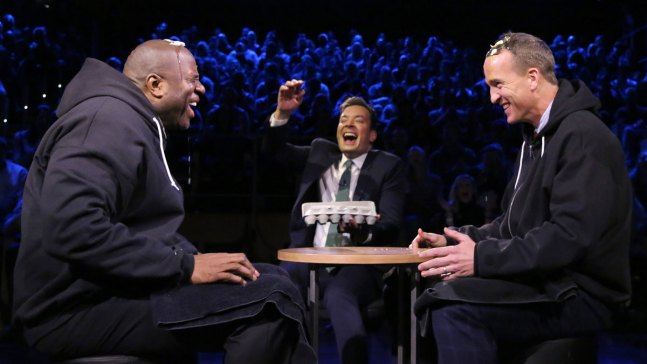Manning, Magic Square Off in Egg Russian Roulette