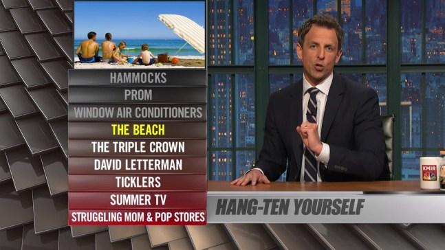 "WATCH: Seth Meyers ""Ya Burnt"": David Letterman, Prom"