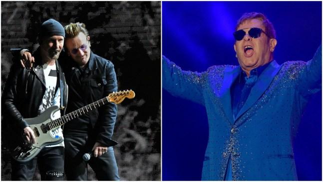 U2, Elton John to Perform at Grammys