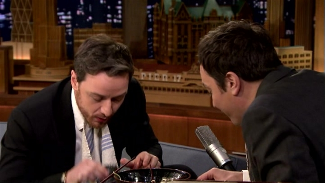 'Tonight Show': Ramen Challenge With James McAvoy