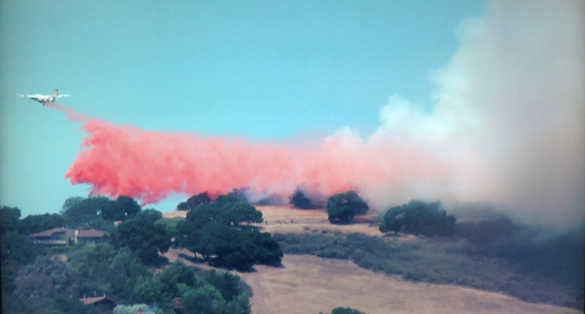 [PHOTOS] Brush Fire Burns in San Jose Foothills