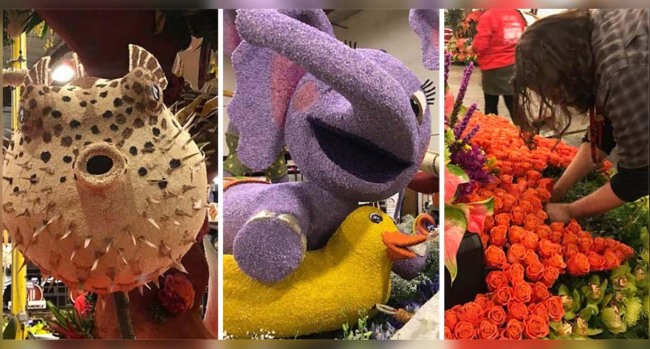 Photos: Finishing Touches Added to Rose Parade Floats
