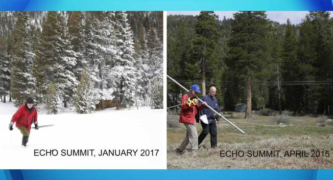 Sierra Snowpack 'Way Above Average' After Storms