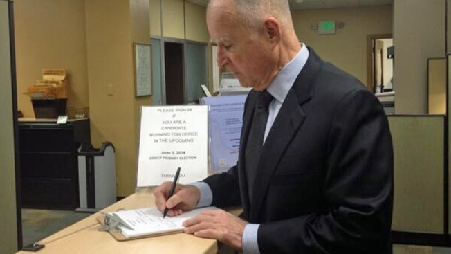 Gov. Jerry Brown Announces Plans to Seek Re-Election
