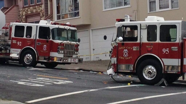 Daly City Fire Vehicles Collide; 2 Firefighters Injured