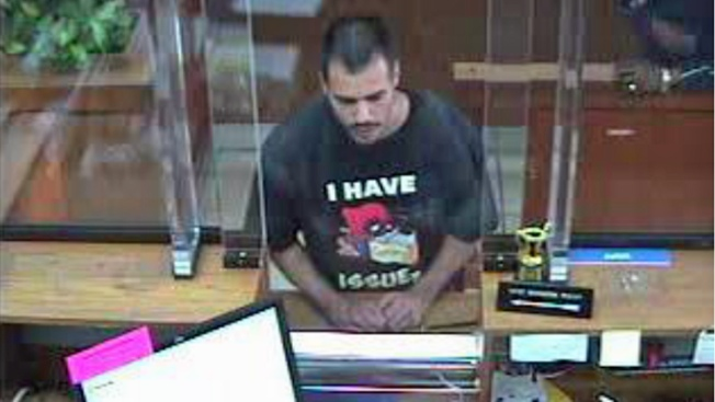 "Accused Hayward Bank Robber's T-Shirt: ""I Have Issues"""
