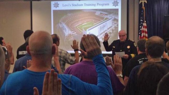 Levi's Stadium Special Events Police Sworn In