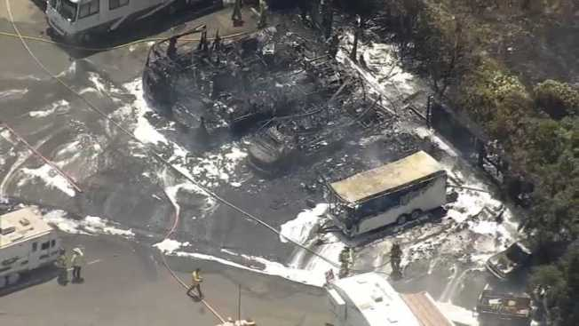 Multiple RVs Burned in Blaze at Concord Storage Facility