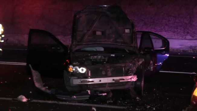 Series of Chaotic Crashes on Highway 101 in Palo Alto Leaves