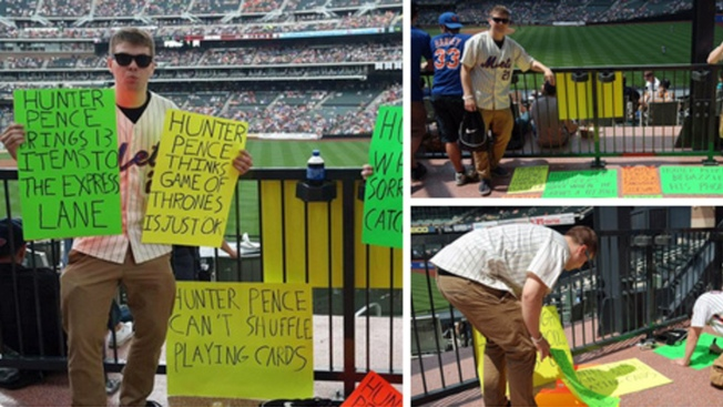 Mets Fans Kindly Troll Hunter Pence All Weekend Long