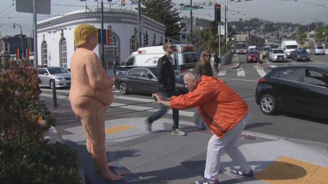 Naked Donald Trump Statue Stuck in Custody, Artist Hopes to Be Feted in San Francisco