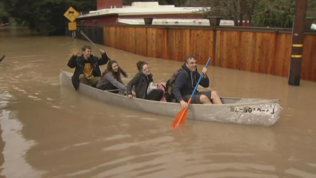 Tiny Town of Guerneville Under Water