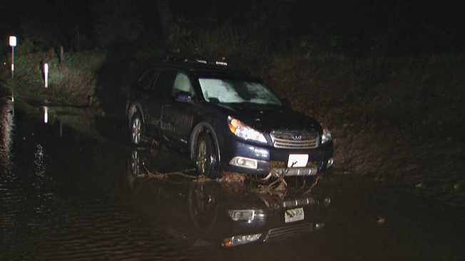 Mudslide Closes Niles Canyon, Couple Rescued From SUV