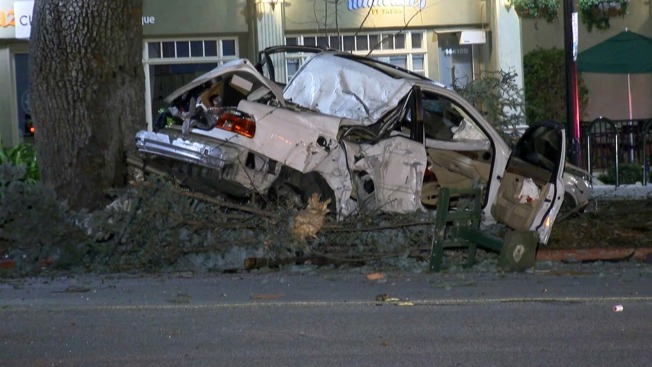 Driver Crashes Near Saratoga Fire Station, Rescued from Mangled Car