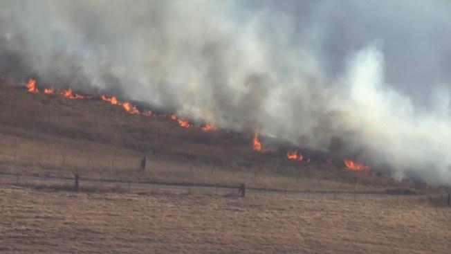 Brush Fire Burning in Solano County