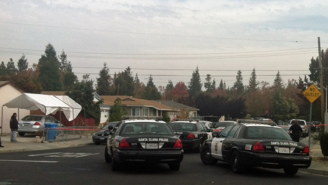 SWAT Team Surrounds Santa Clara Home in Search for Burglary Suspect