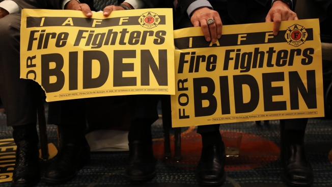 Trump Fires Off Dozens of Retweets Over Firefighters Union Backing Biden