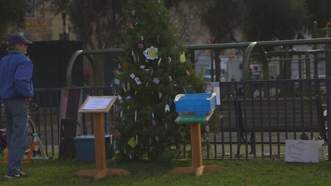 San Francisco Man Encourages 'Mayhem' as he Uses a Christmas Tree to ...