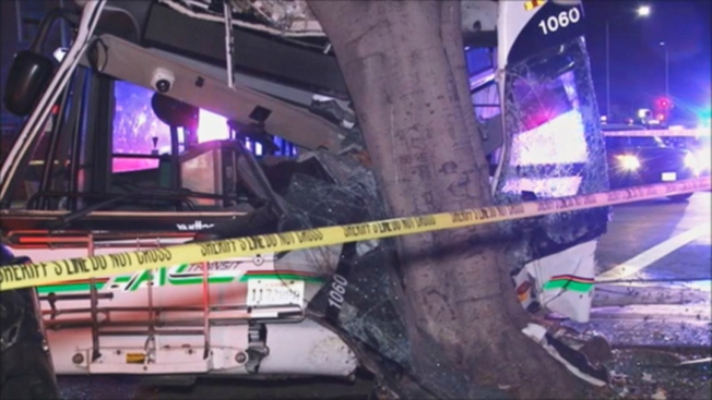 AC Transit Driver Hits Tree in Oakland, Suffers Injuries