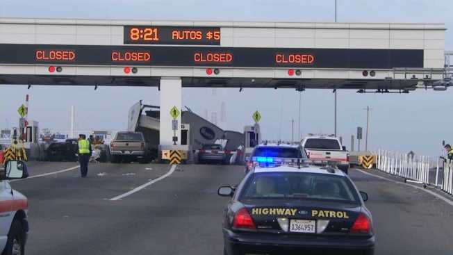 Toll collector killed on duty in truck-ramming crash in California