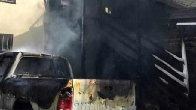 Firefighters Battle House Fire in Oakland