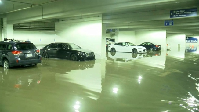 Parking Garage Flooded at Mineta San Jose International Airport