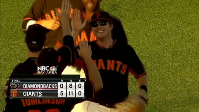 Hudson Faces 8 Batters, Giants Beat Diamondbacks 5-0