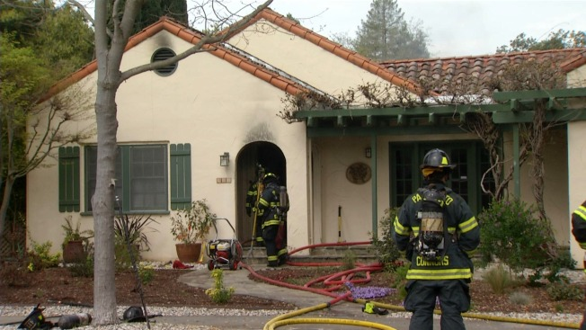 Firefighters Battle Two-Alarm House Fire in Palo Alto