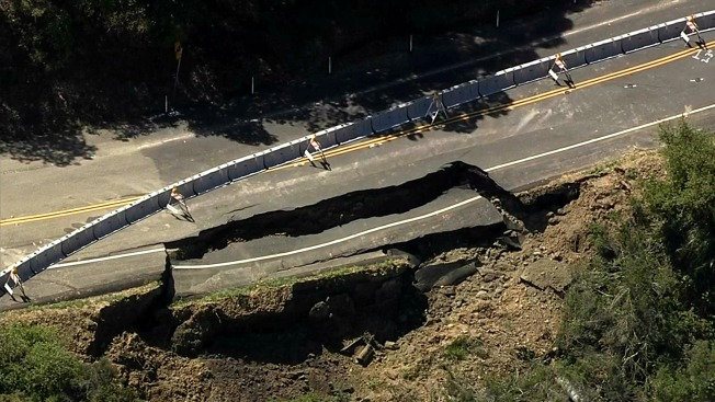 Chunk of Road in Castro Valley Collapses, Triggers Closure