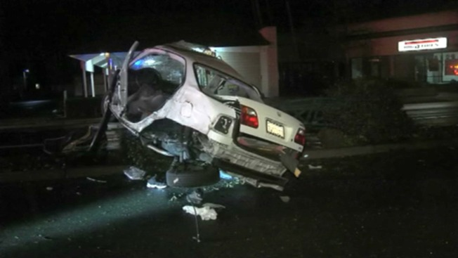 East Bay Police Chase Ends in Mangled Wreck