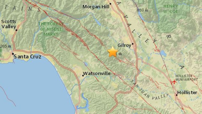 Two Earthquakes Strike Near Gilroy Minutes Apart