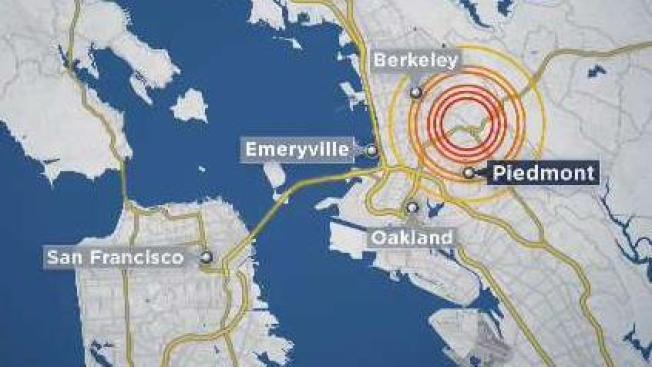 Usgs Earthquake Map San Francisco.3 5 Magnitude Earthquake Strikes Near Piedmont Usgs Nbc Bay Area