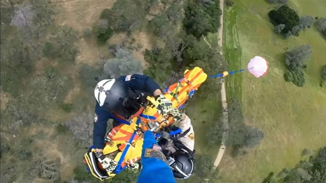 Helicopter Team Rescues Injured Hiker From Mt. Diablo