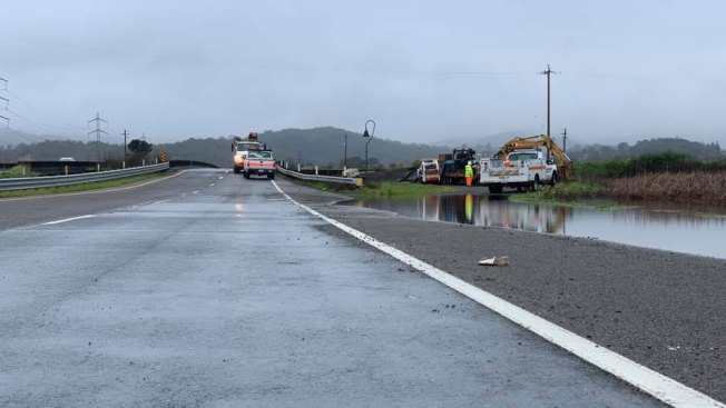 Highway 37 Reopens After Flooding, Storm Damage