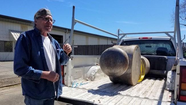 Part of Giant Hammer Artwork Stolen in Healdsburg Returned