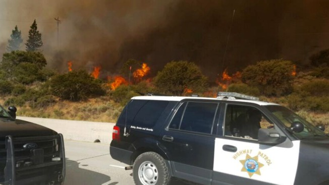 I-80 reopens after wildfire causes hours-long closure near Truckee