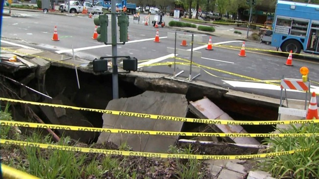 Crews Start Process of Fixing Moraga Sinkhole 16 Months After Opening