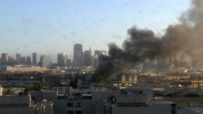 Fire Spews Black Smoke Over San Francisco
