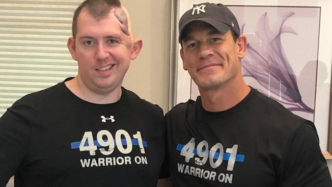 John Cena Surprises Injured Police Officer Who Was Shot in Head