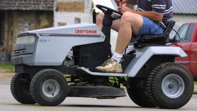 Driving Lawn Mower While Drunk