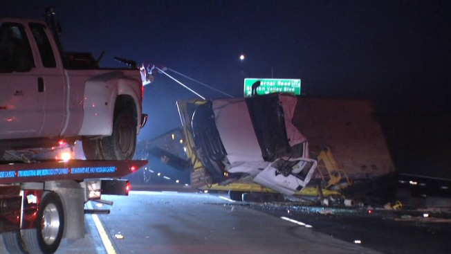 Overturned Safeway Truck Spills Fuel on Highway 101, Snarling Traffic