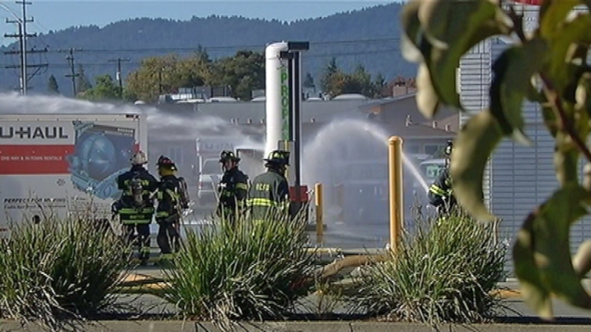 Explosion at U-Haul Facility Closes El Camino Real in Redwood City