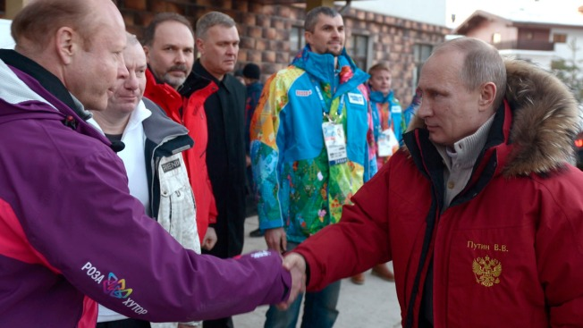 "Putin Warns Gay Athletes To ""Leave Children Alone"" at Sochi Olympics"