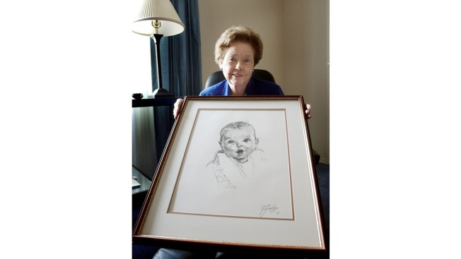 Original Gerber Baby Ann Taylor Cook Turns 90