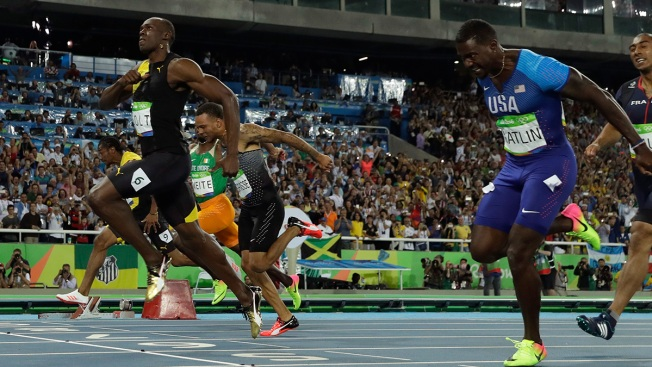Bolt Wins 3rd Straight Olympic 100