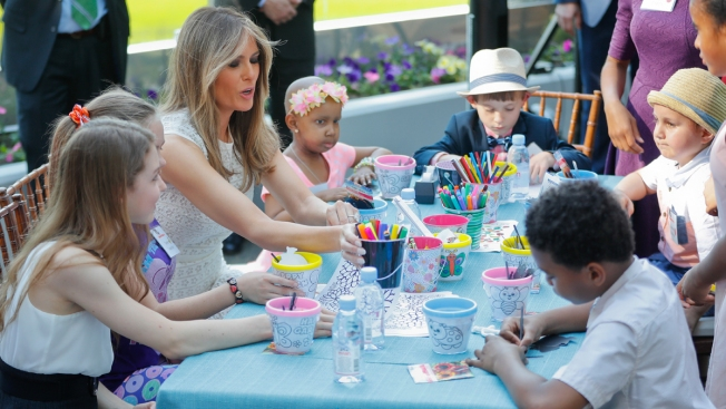 First Lady Melania Trump Dedicates 'Healing' Garden at Children's Hospital
