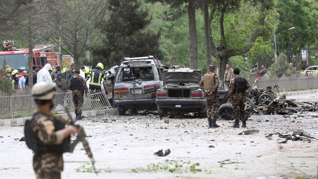 Large blast heard near US embassy in Afghan capital