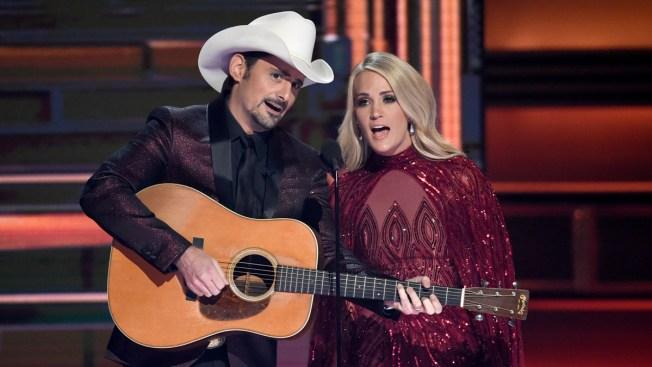 CMA Awards Hosts Underwood, Paisley Poke Fun at Politics