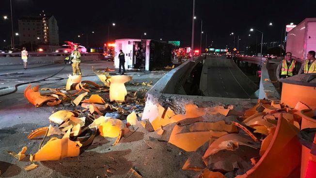 Dozens Hospitalized After Bus Rollover on LA Freeway