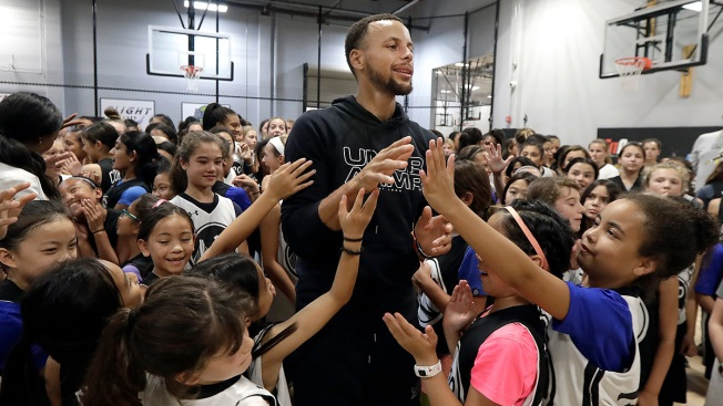 Stephen Curry Supports Women's Game by Hosting Girls Camps